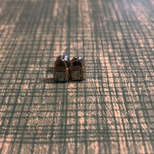 Michael Kors lock stud earrings
